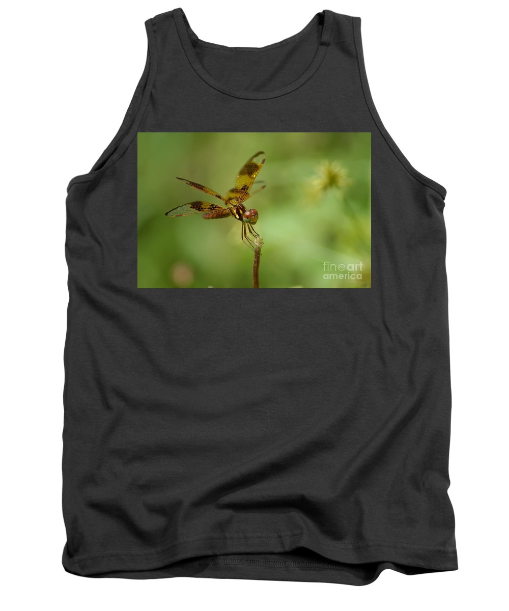 Dragonfly Tank Top featuring the photograph Dragonfly 2 by Olga Hamilton