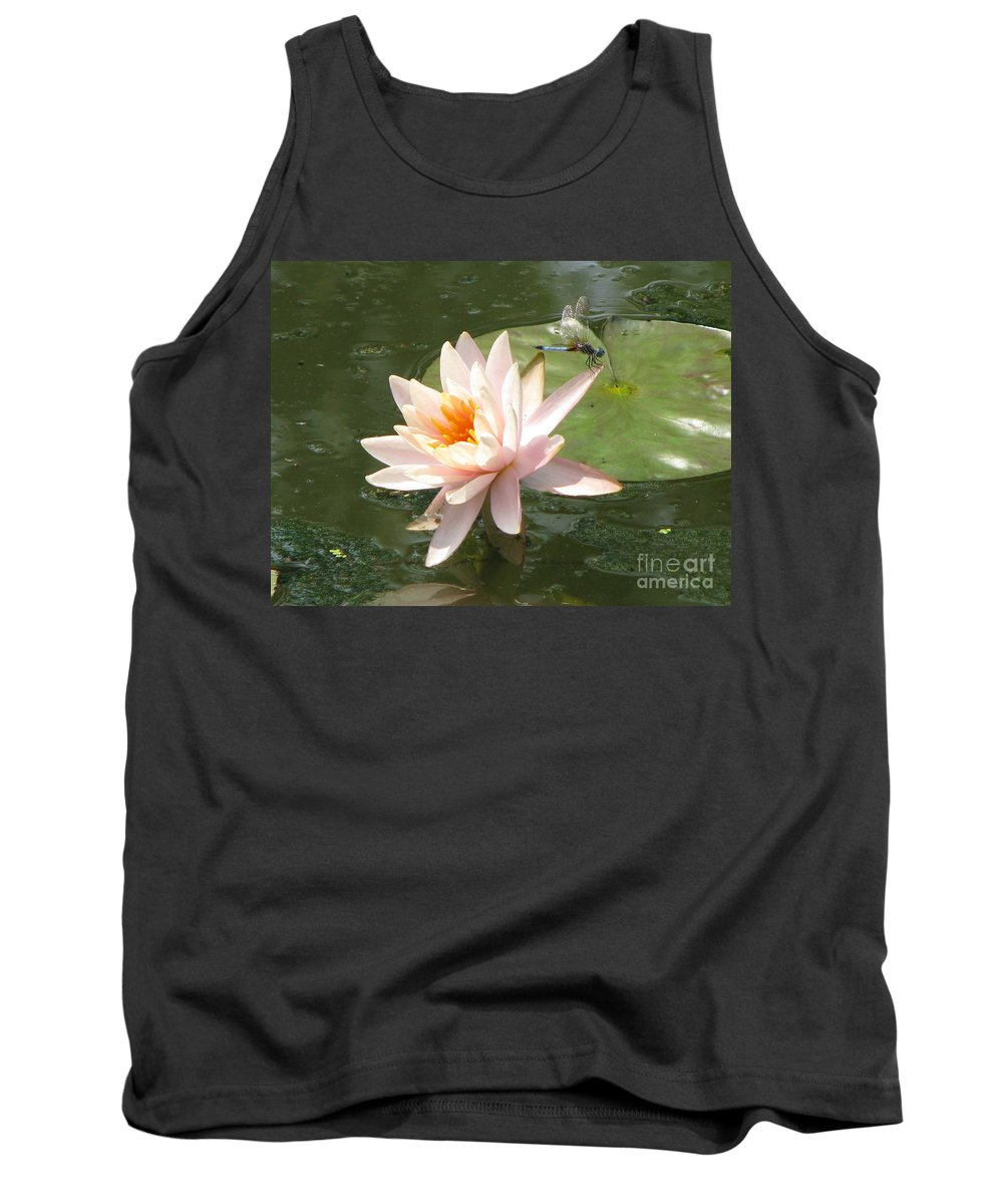 Dragon Fly Tank Top featuring the photograph Dragonfly Landing by Amanda Barcon