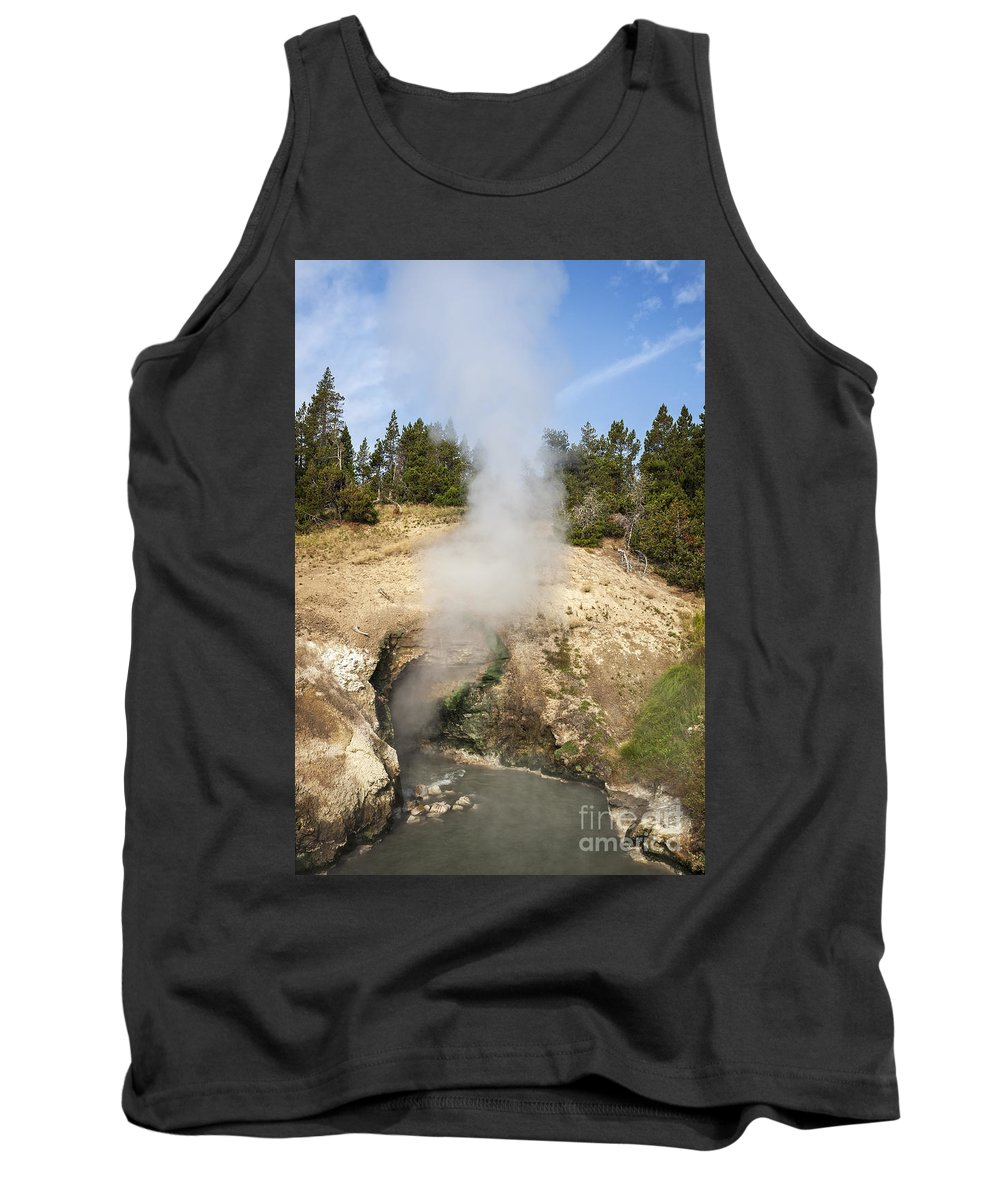 Wyoming Tank Top featuring the photograph Dragon's Mouth Spring by Bryan Mullennix