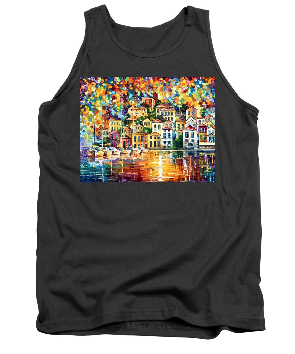 Afremov Tank Top featuring the painting Dream Harbor by Leonid Afremov