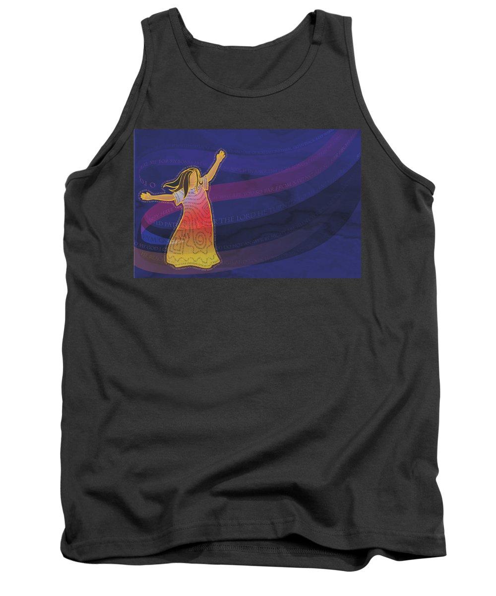 Woman Tank Top featuring the digital art Dress Full Of Prayers by Merrill Miller