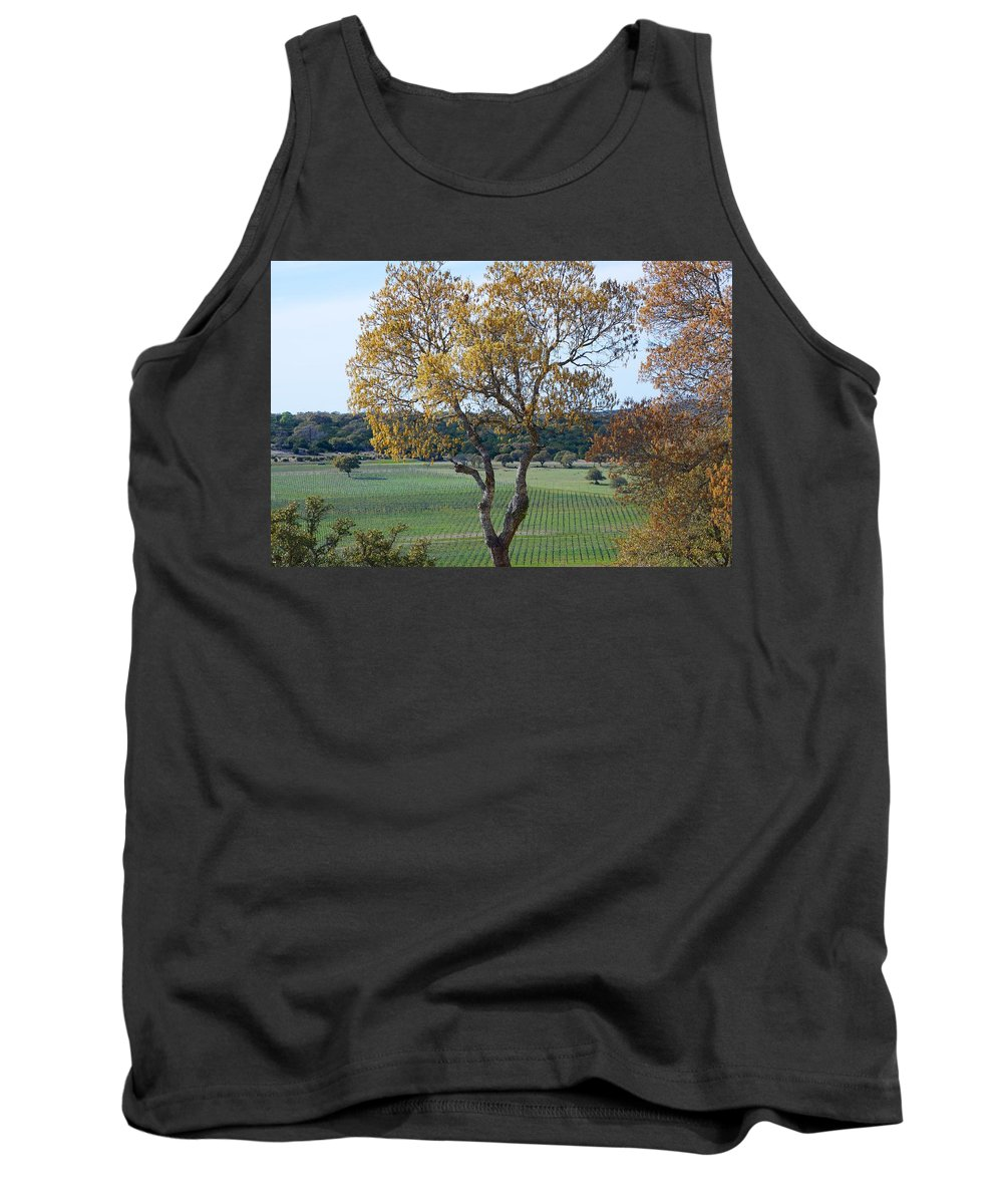 Driftwood Winery Tank Top featuring the photograph Driftwood Texas by Kristina Deane
