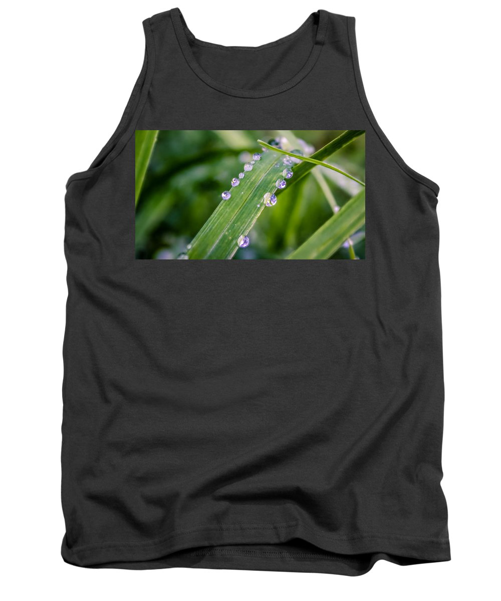 Rain Tank Top featuring the photograph Drops On Grass by Rob Sellers