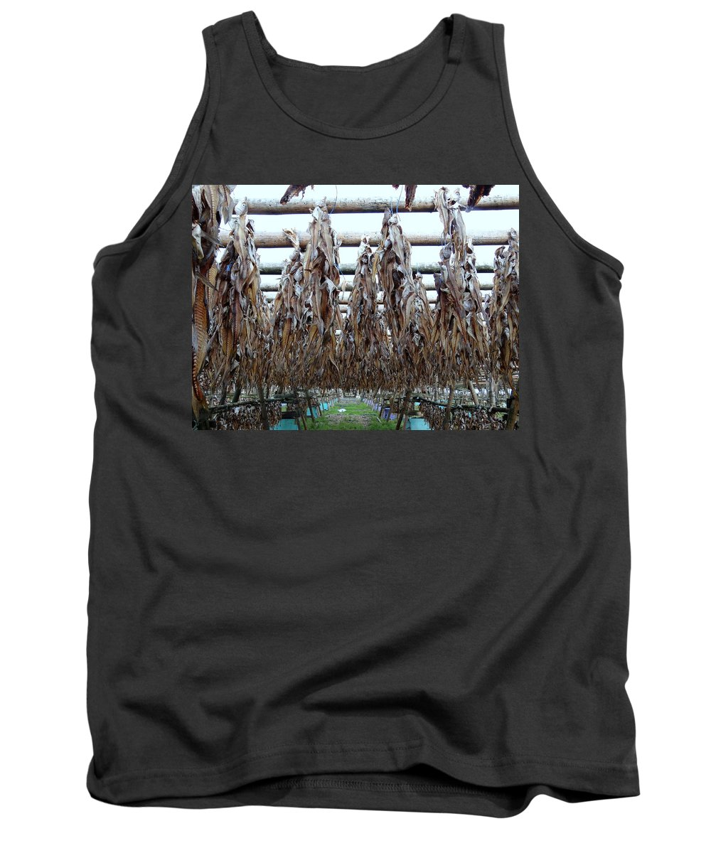 Fish Drying Tank Top featuring the photograph Drying Of The Fish by Richard Rosenshein