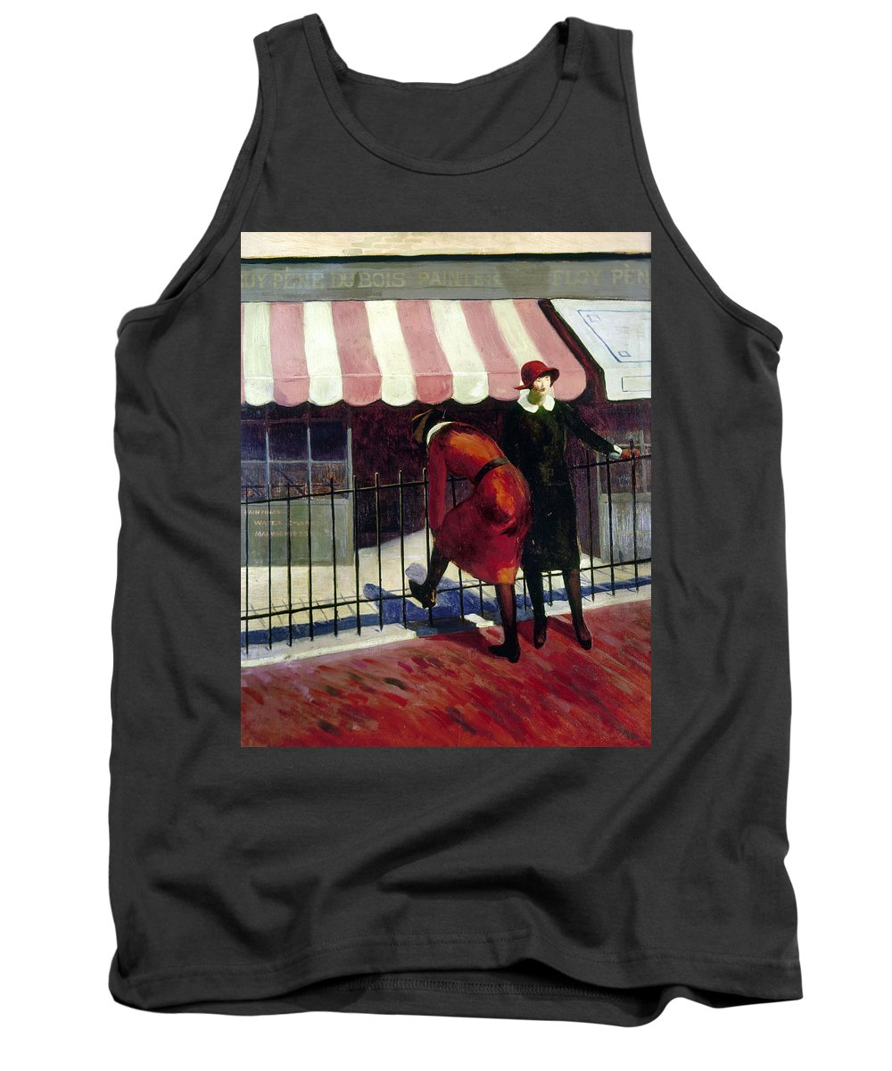 1922 Tank Top featuring the painting Du Bois Shops, 1922 by Granger
