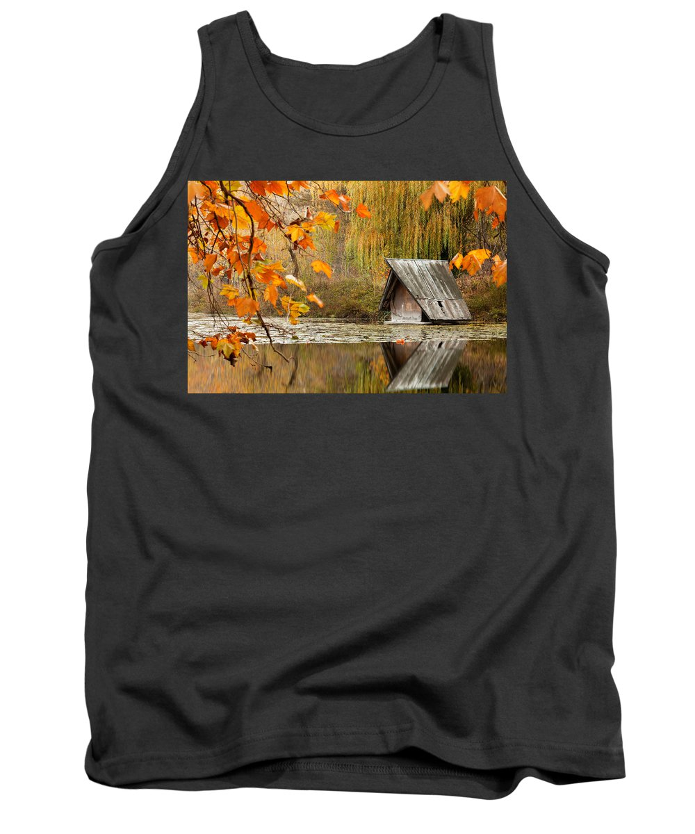 Dawn Tank Top featuring the photograph Duck's House by Evgeni Dinev