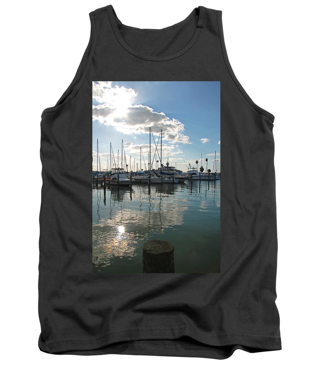 Dunedin Harbor Tank Top featuring the photograph Dunedin Harbor by Christiane Schulze Art And Photography