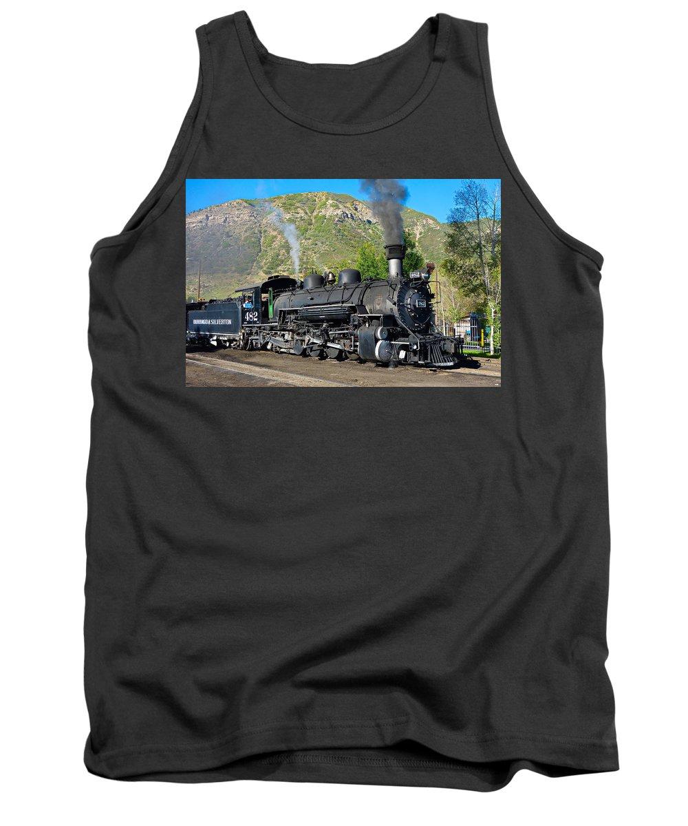 Durango Tank Top featuring the photograph Durango To Silverton Train by Robert Meyers-Lussier