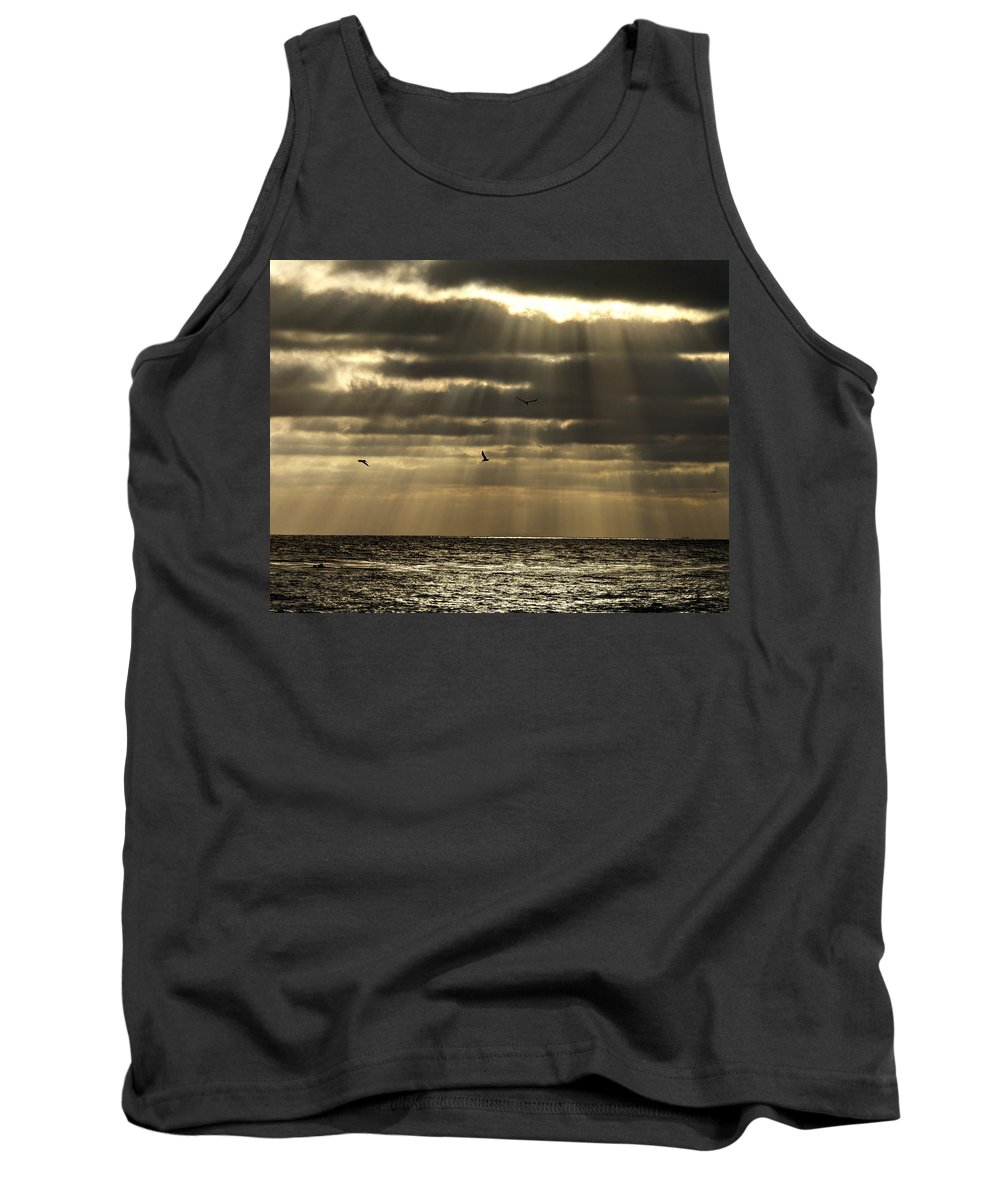 Sunset Tank Top featuring the photograph Dusk On Pacific by Joe Schofield