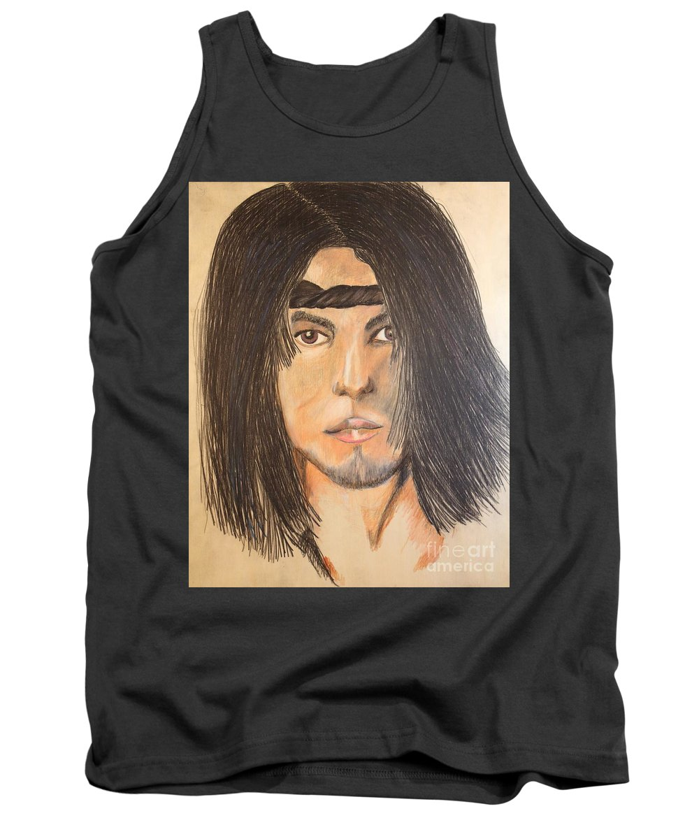 Young Man Tank Top featuring the painting Dylan by Stefan Duncan
