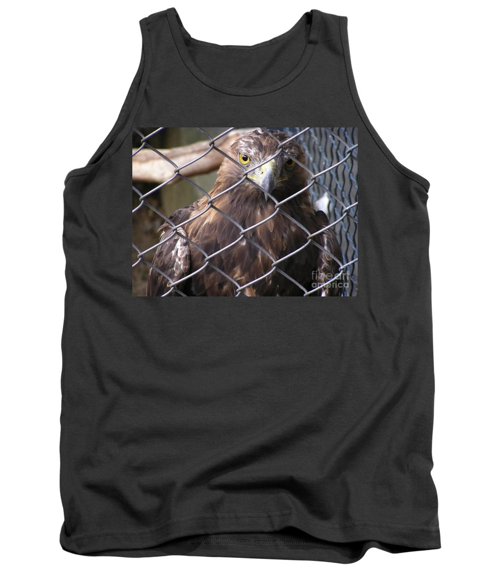 Zoo Tank Top featuring the photograph Eagle by Zoran Berdjan