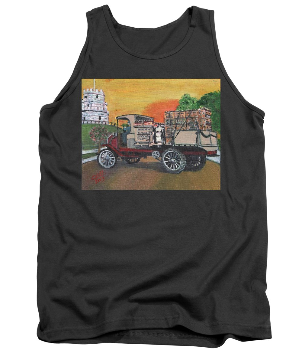 Vintage Truck Tank Top featuring the painting Early Morning Delivery by Cliff Wilson