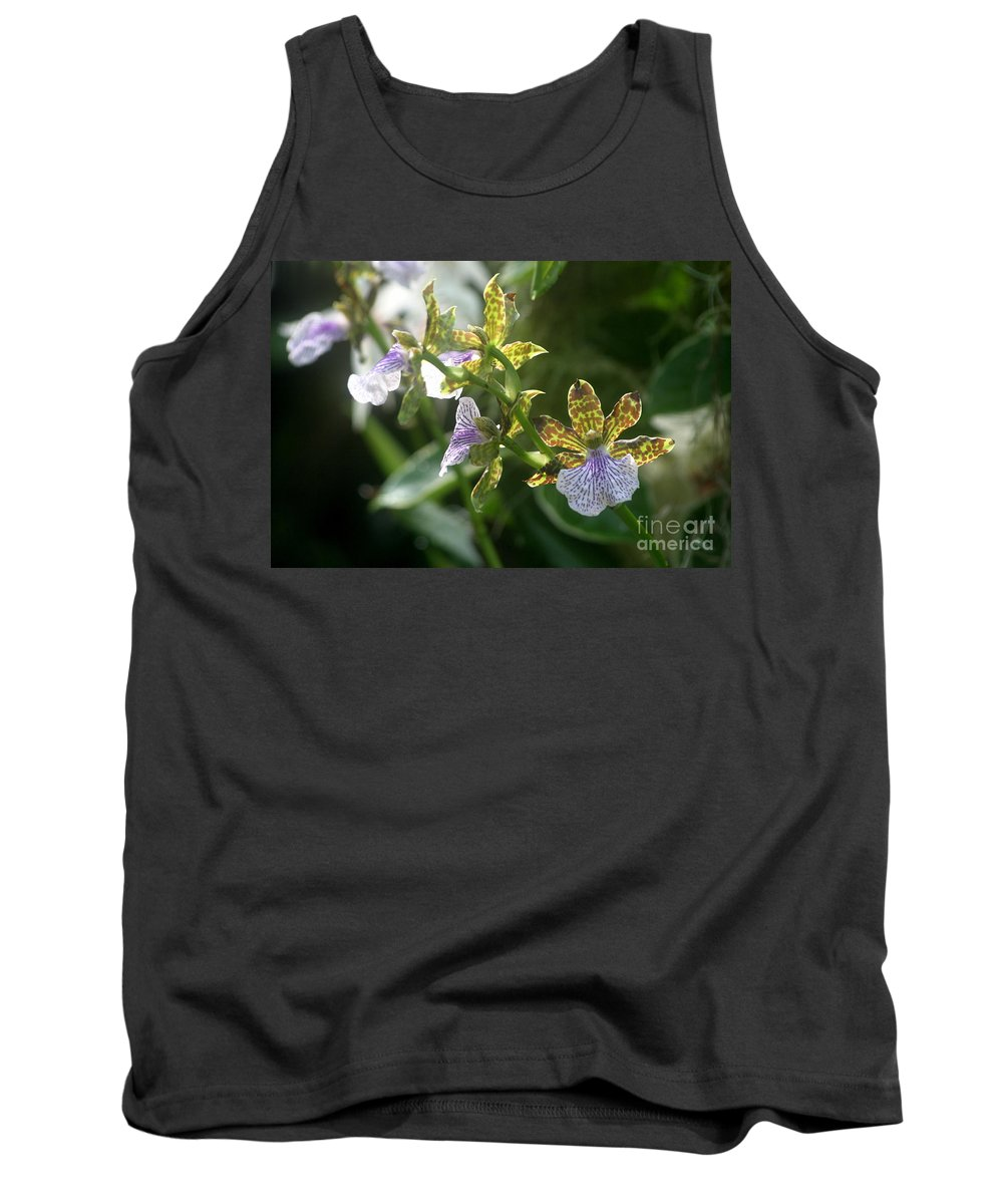 Orchids Tank Top featuring the photograph Early Morning Light by Living Color Photography Lorraine Lynch