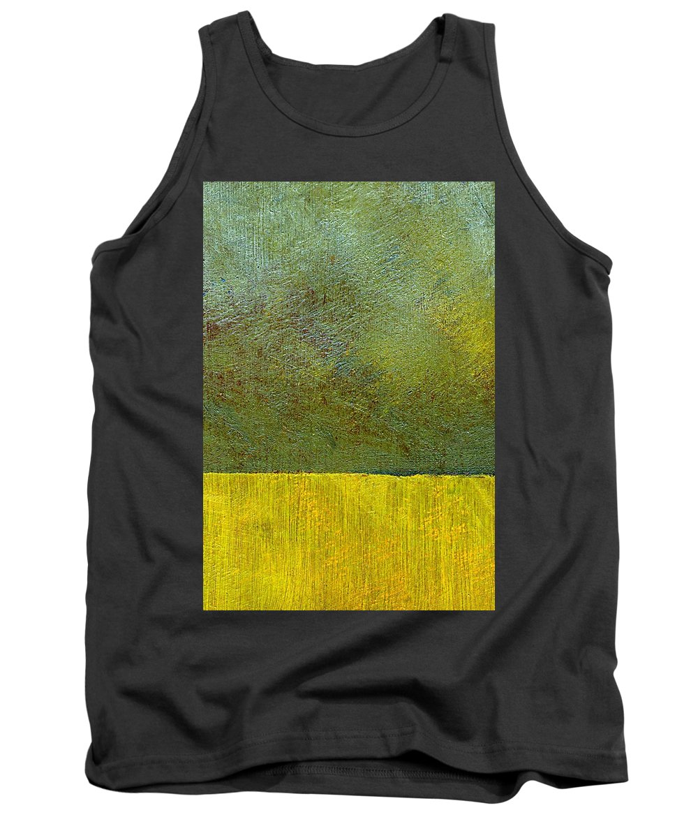 Abstract Landscape Tank Top featuring the painting Earth Study Two by Michelle Calkins
