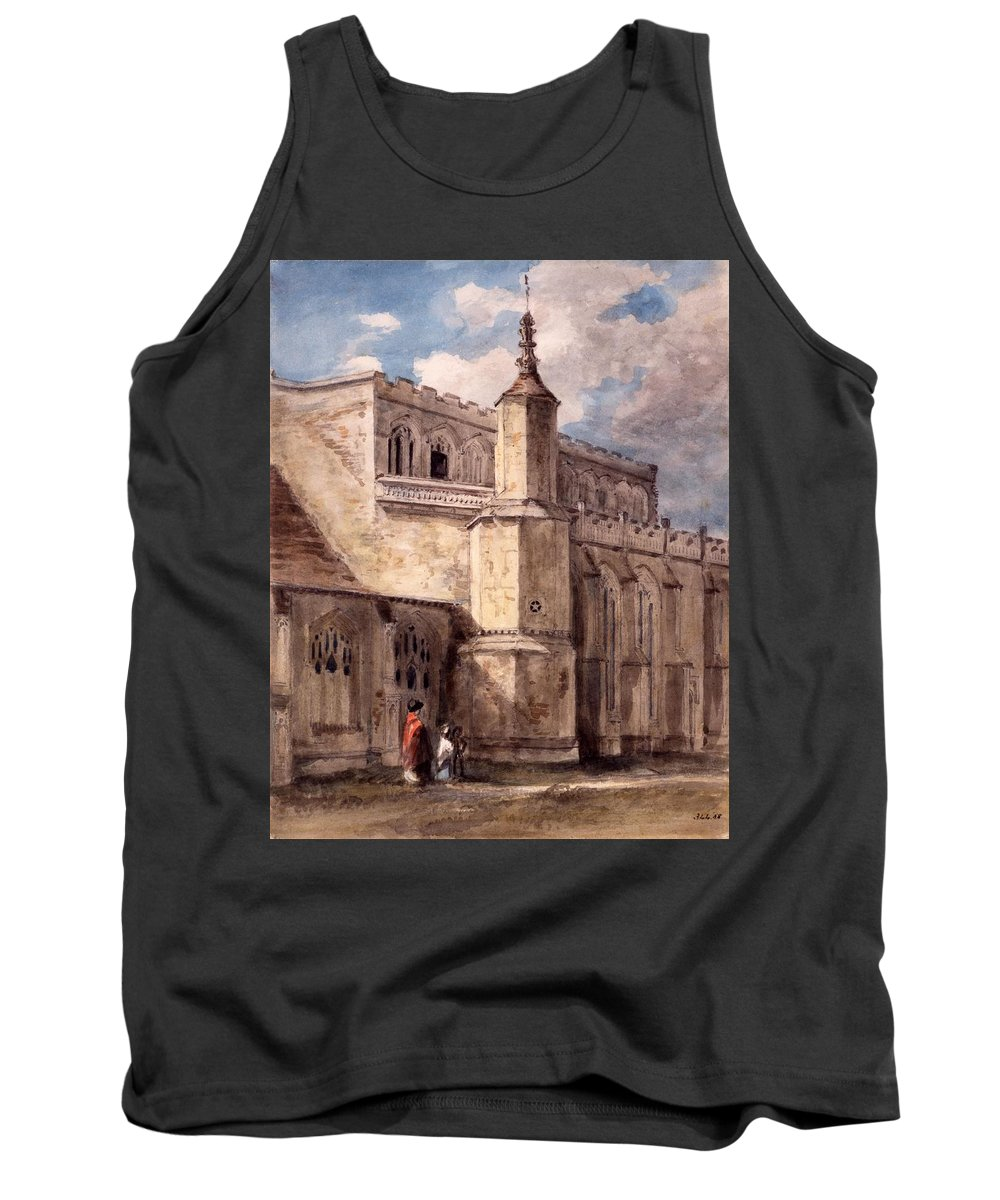 East Bergholt Tank Top featuring the drawing East Bergholt Church, Northside by John Constable