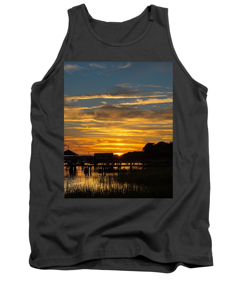 Sunset Tank Top featuring the photograph East Coast Sunset by David Downs