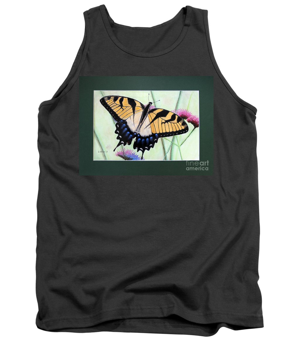 Eastern Tiger Swallowtail Tank Top featuring the photograph Eastern Tiger Swallowtail Butterfly By George Wood by Karen Adams