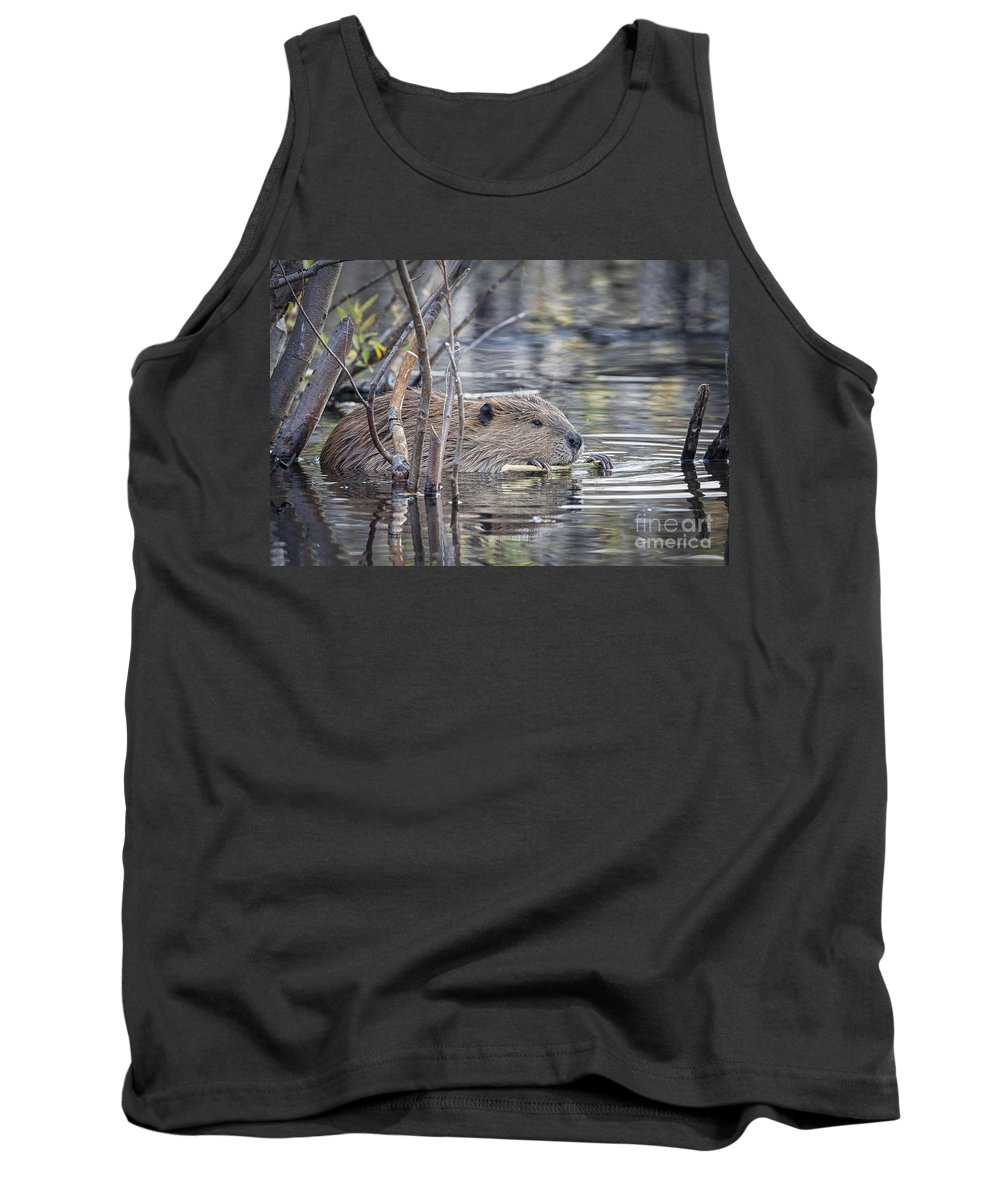 2012 Tank Top featuring the photograph Eating Bark by Ronald Lutz