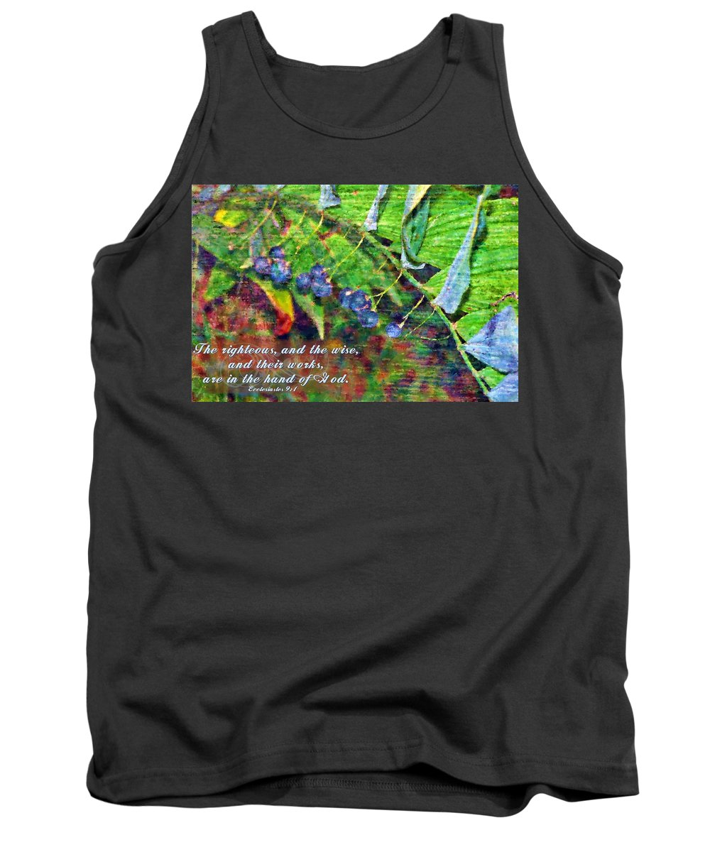 Jesus Tank Top featuring the digital art Ecclesiastes 9 1 by Michelle Greene Wheeler