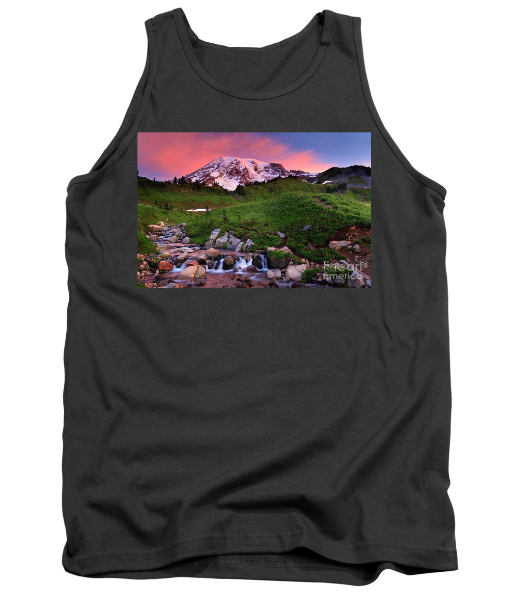 America Tank Top featuring the photograph Edith Creek Sunrise by Inge Johnsson