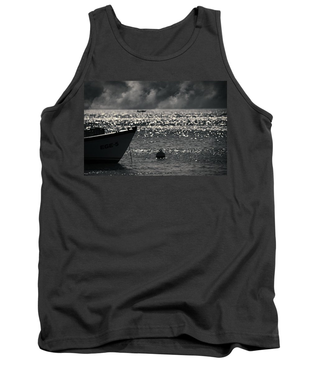 Sea Tank Top featuring the photograph Ege by Zapista