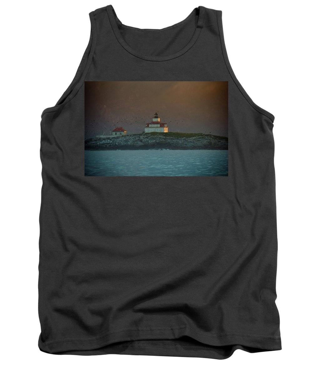 Acadia National Park Tank Top featuring the photograph Egg Rock Island Lighthouse by Sebastian Musial