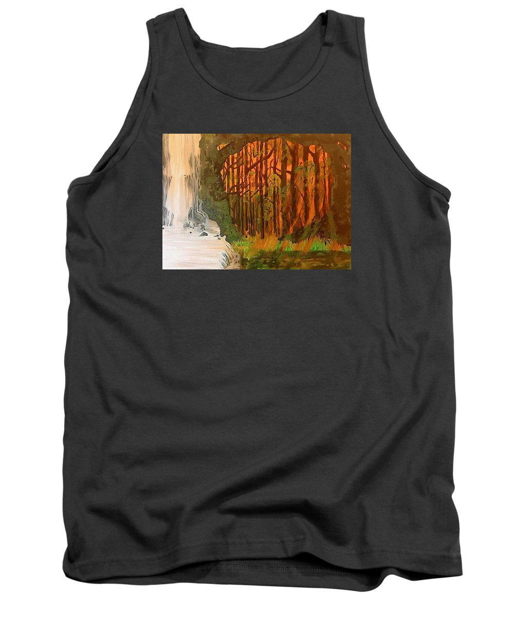 Waterfall Tank Top featuring the painting Elemences by Fallon Franzen