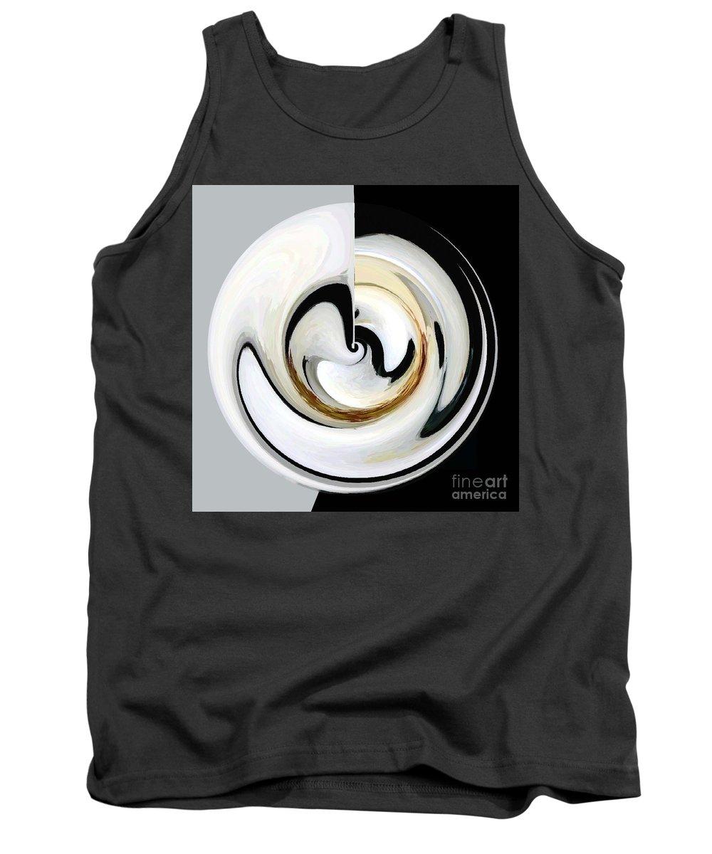 Contemporary Circular Designs Digital Art Tank Top featuring the digital art Embryo-2 by Joel Thompson