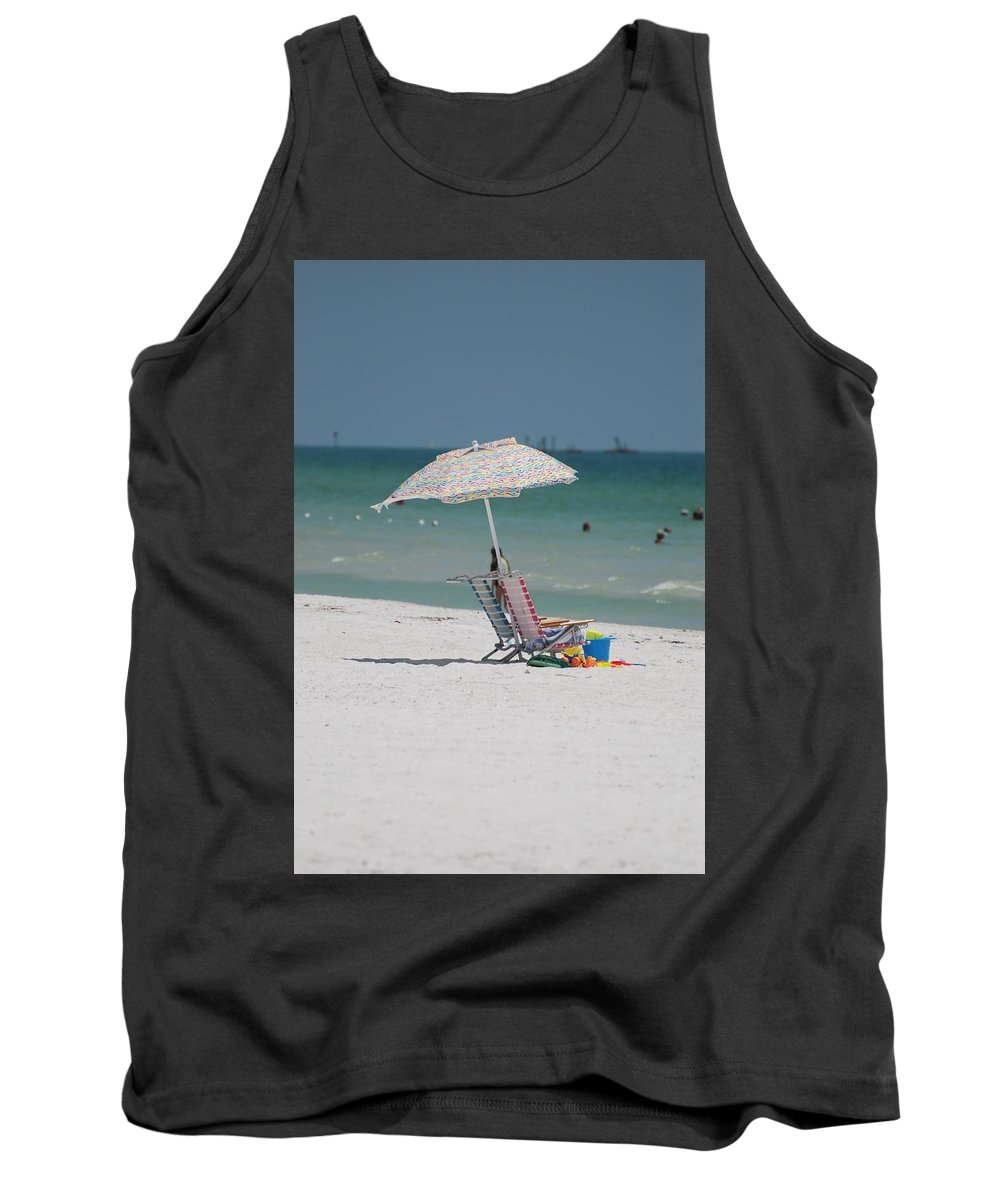 Nautical Tank Top featuring the photograph Empty Chairs by Rob Hans