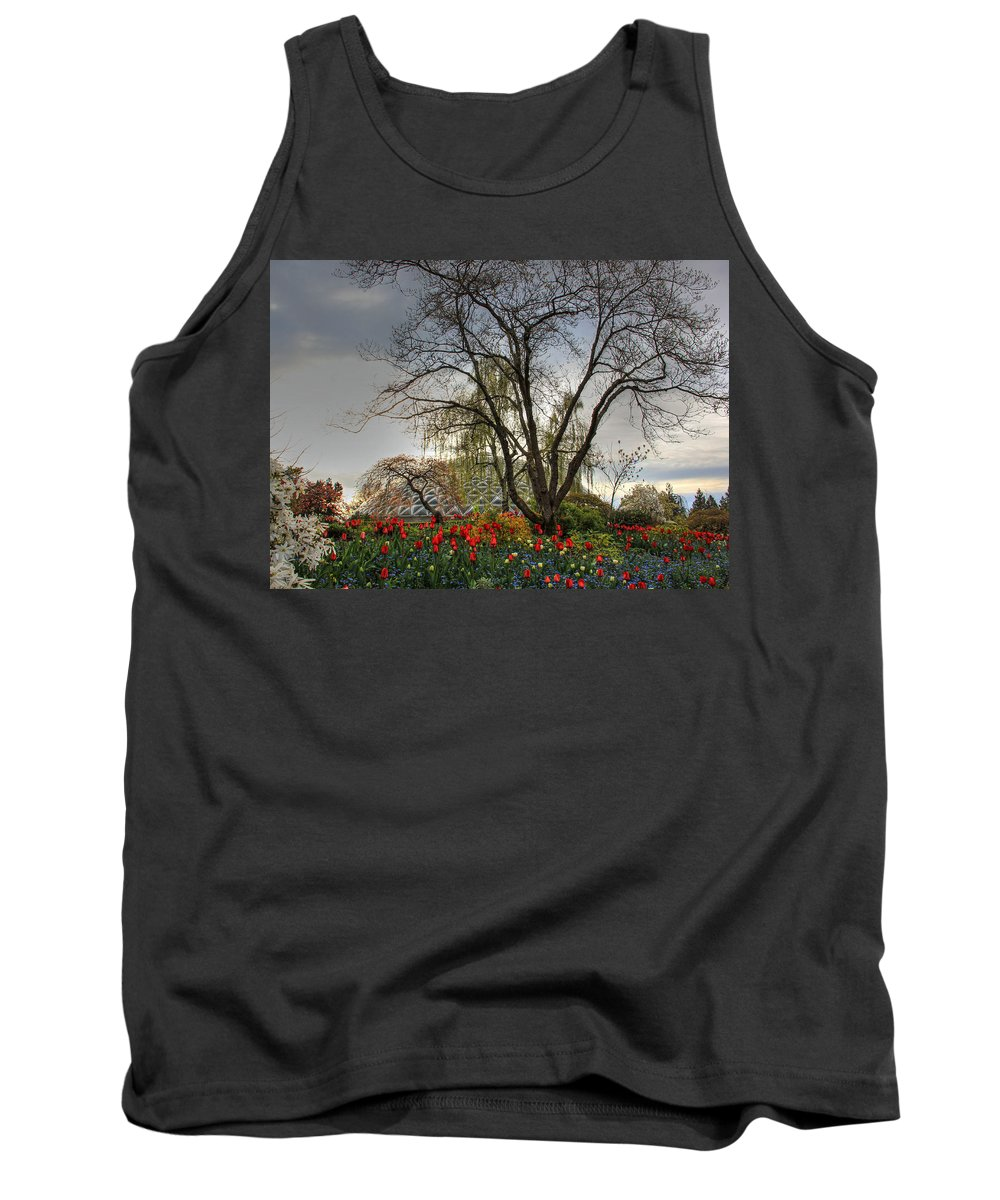 Enchanted Tank Top featuring the photograph Enchanted Garden by Eti Reid