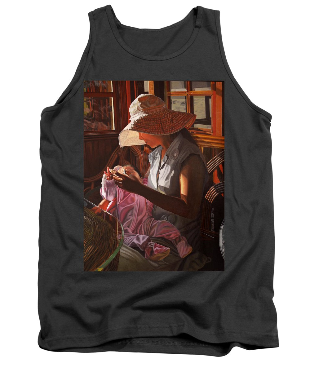 Children Paintings Tank Top featuring the painting Enfamil At Ha Long Bay Vietnam by Thu Nguyen