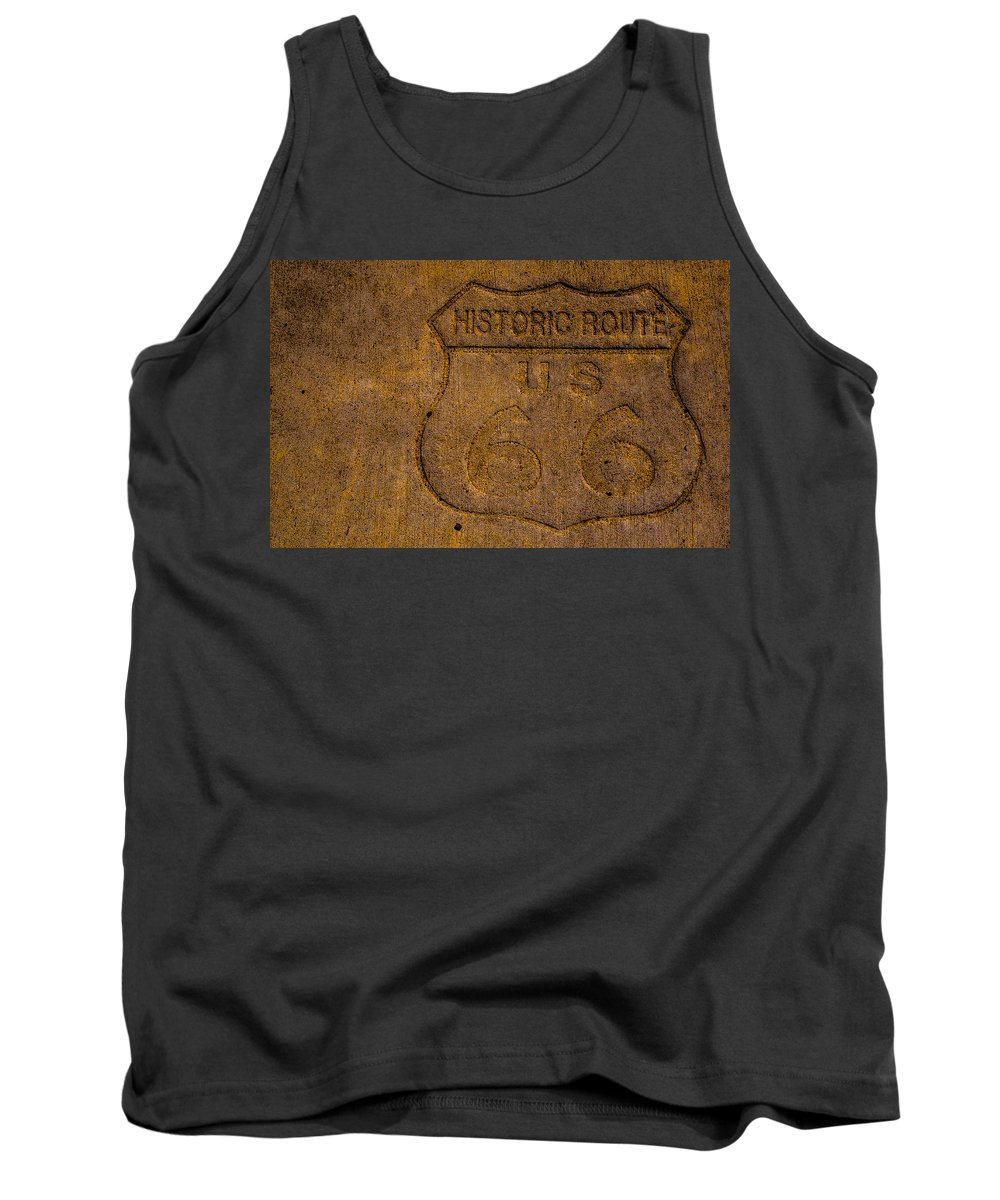 Route 66 Tank Top featuring the photograph Engraved by Angus Hooper Iii