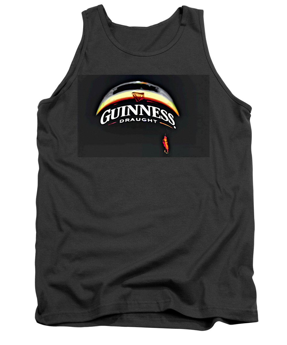 Beer Tank Top featuring the painting Enjoy Guinness by Florian Rodarte