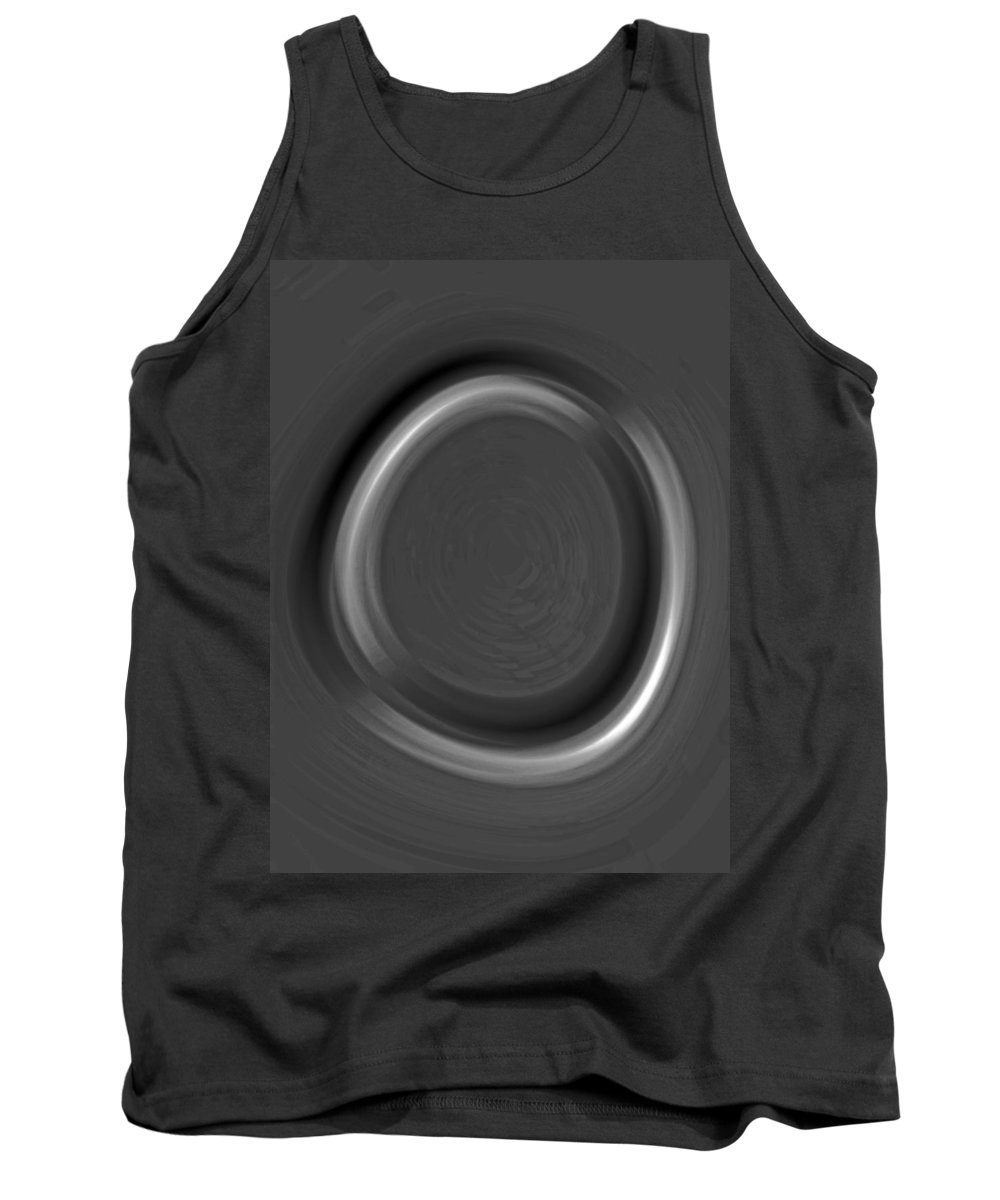zen Buddism Zen Buddism Religion religious Symbols Calligraphy abstract Art Metal Art Tank Top featuring the photograph Enso 03 by Bill Owen