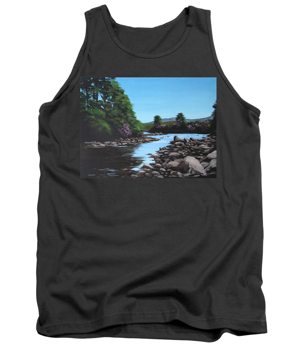 Erriff Tank Top featuring the painting Erriff River by Tony Gunning