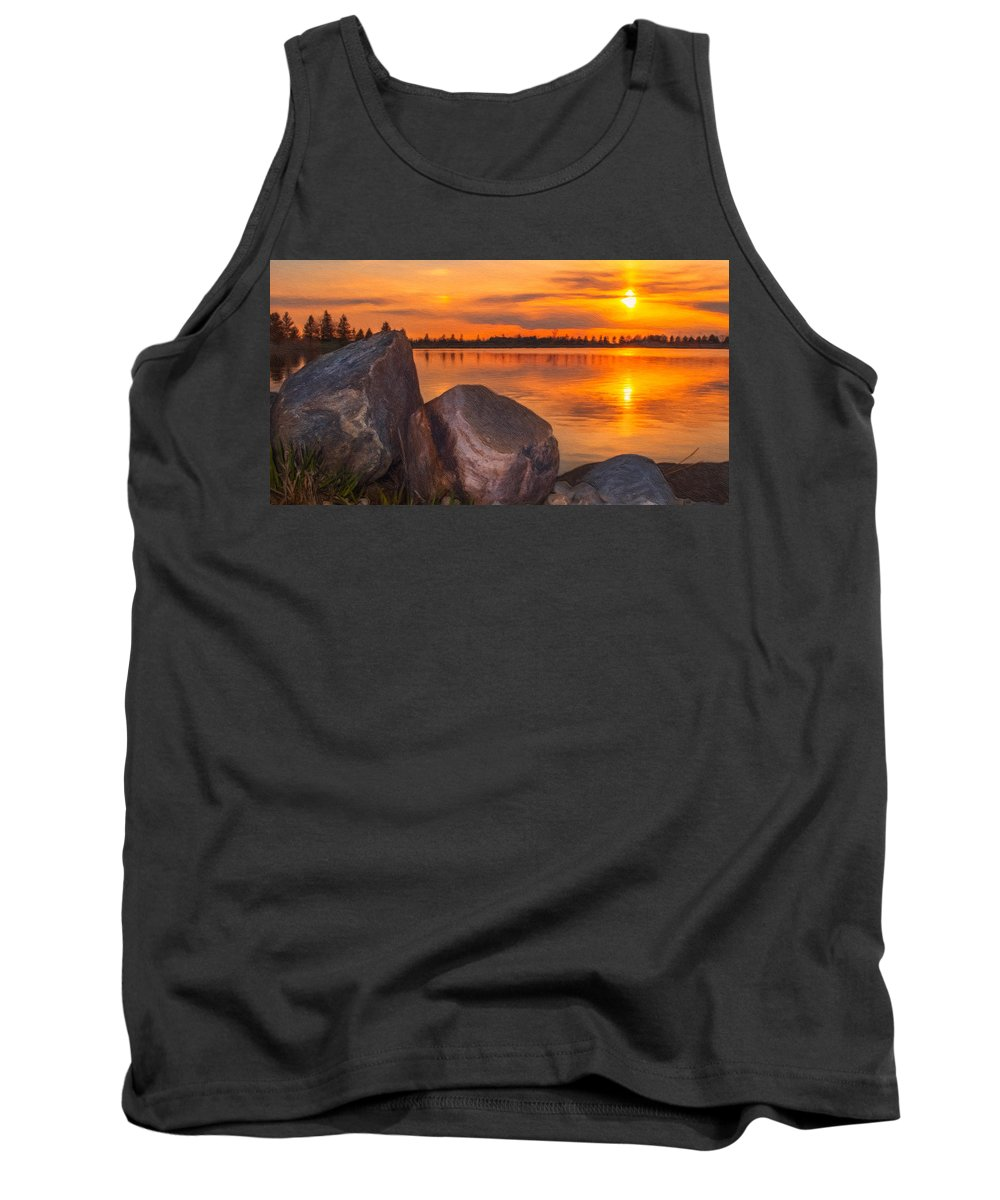 Water Tank Top featuring the photograph Evening Beauty by Garvin Hunter