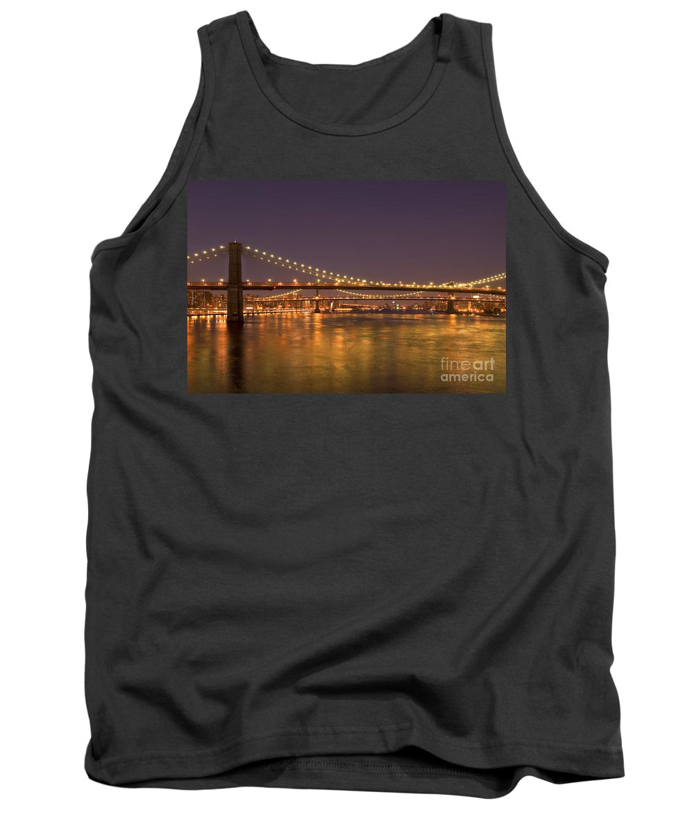 New York City Tank Top featuring the photograph Evening II New York City Usa by Sabine Jacobs