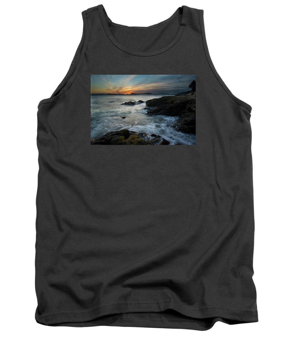 Sunset Tank Top featuring the photograph Evening Turmoil by Mike Reid
