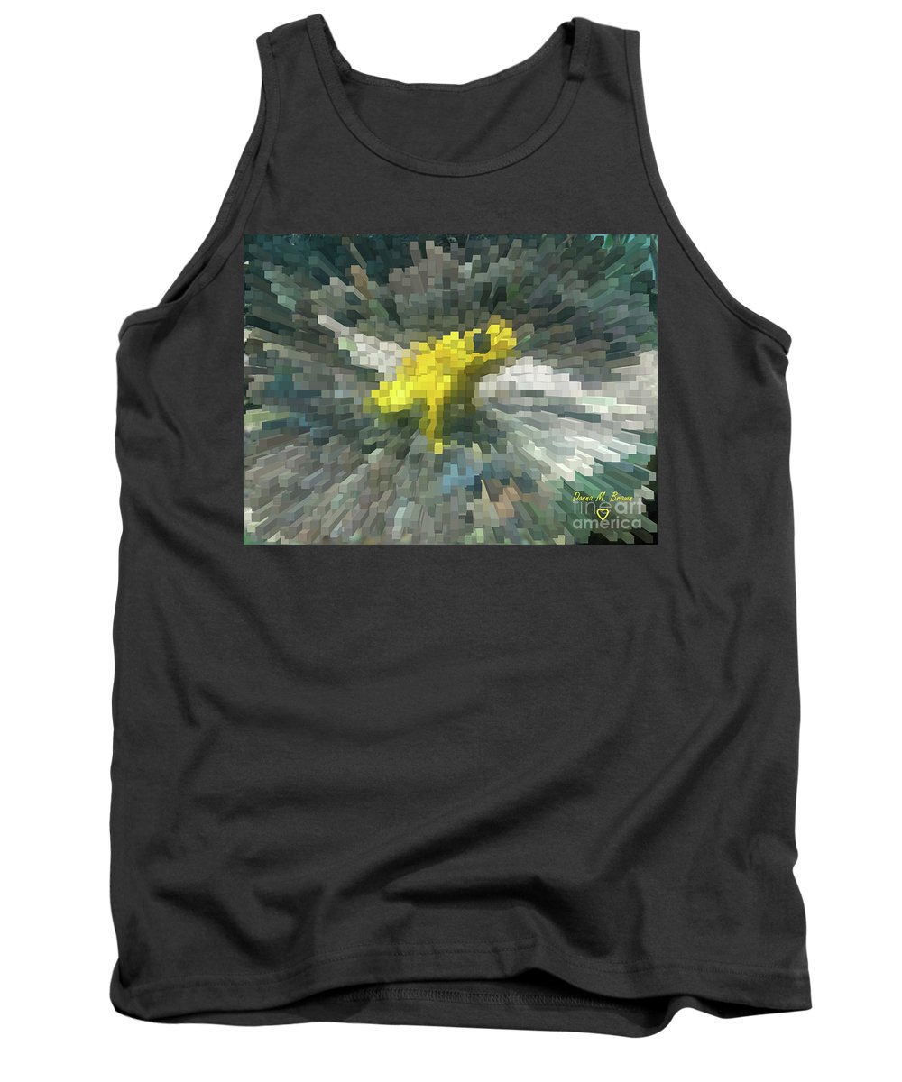 Frog Tank Top featuring the photograph Extrude Yellow Frog by Donna Brown