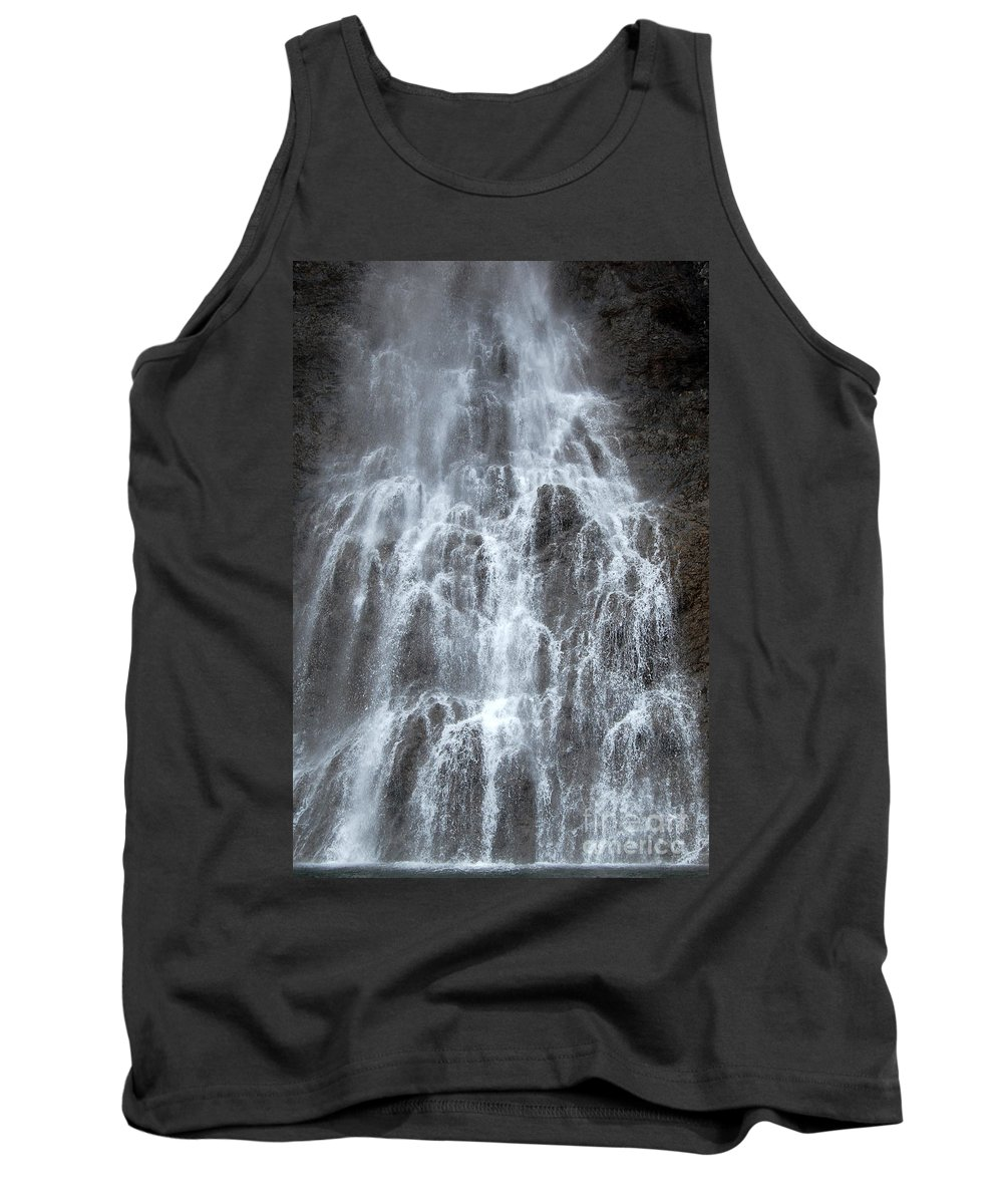 Fairy Falls Tank Top featuring the photograph Fairy Falls Yellowstone National Park by Shawn O'Brien