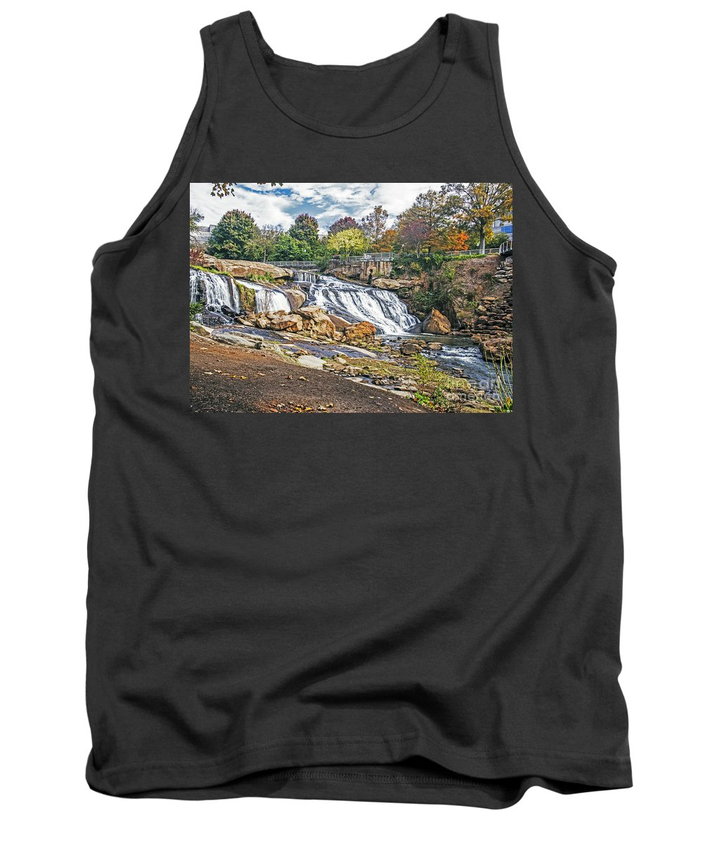 Landscape Tank Top featuring the photograph Fall At Reedy River by Elvis Vaughn