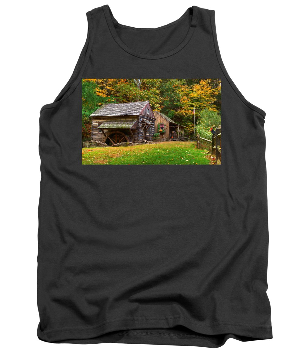 Farm Tank Top featuring the photograph Fall Down On The Farm by William Jobes