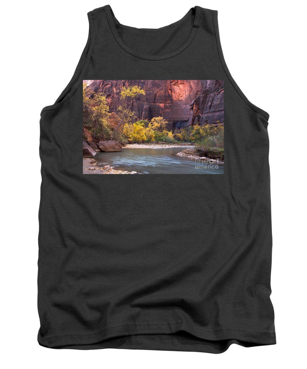 Afternoon Tank Top featuring the photograph Fall Foliage Along The Virgin River by Fred Stearns