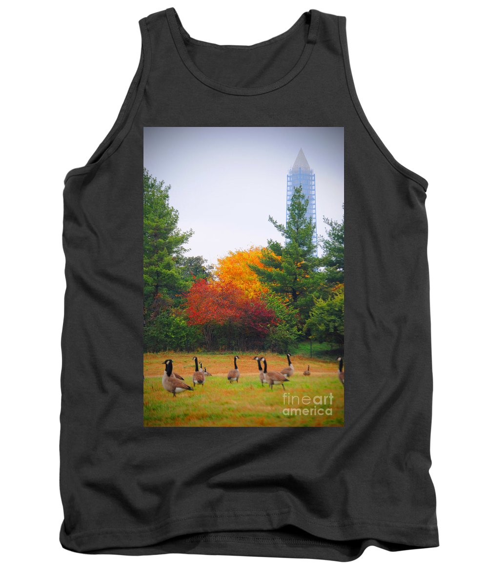 Fall Tank Top featuring the photograph Fall Geese Of Washington by Jost Houk