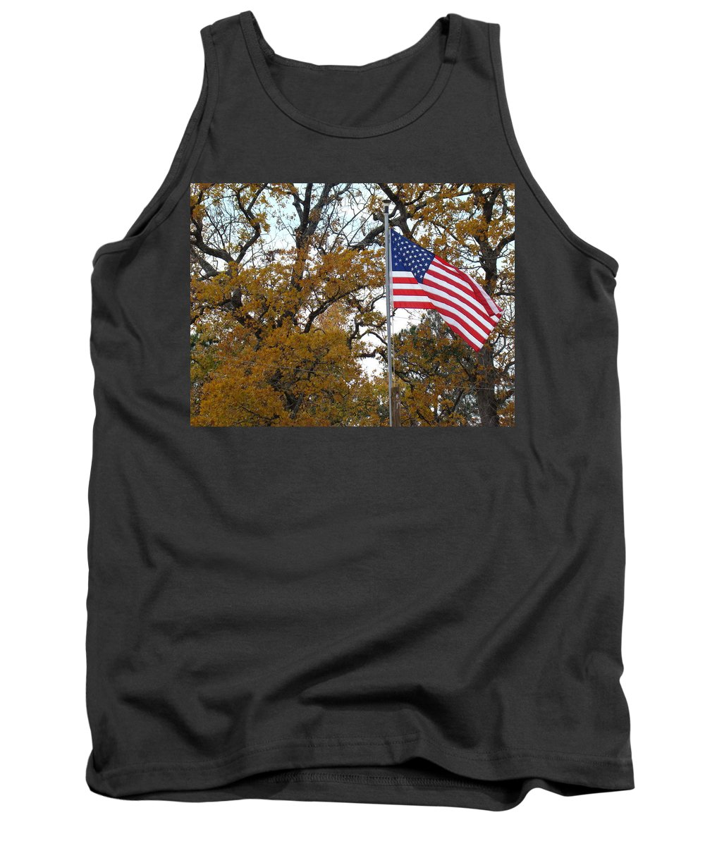 United States Flag Tank Top featuring the photograph Fall In America by Michael MacGregor
