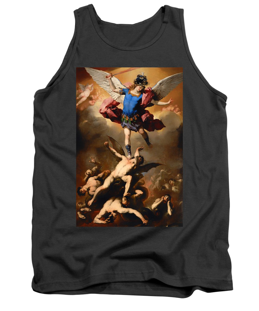 Painting Tank Top featuring the painting Fall Of The Rebel Angels by Mountain Dreams