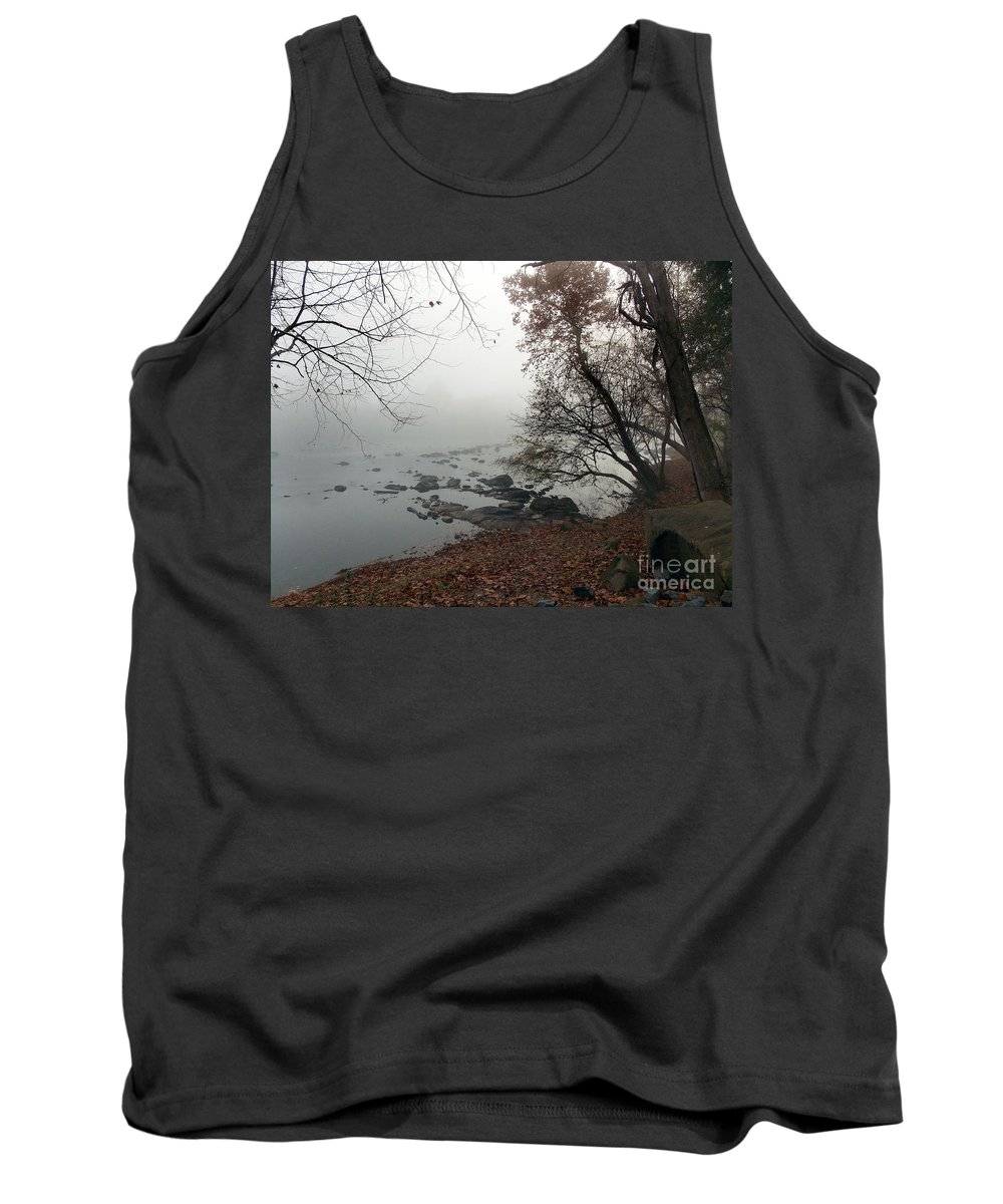 Scenic Tours Tank Top featuring the photograph Fall On The River by Skip Willits