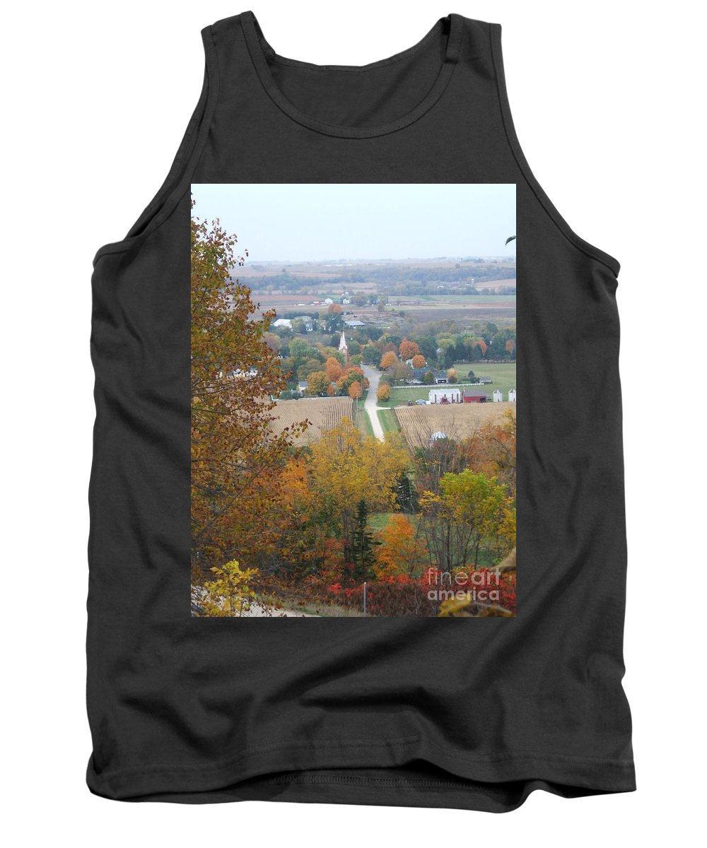 Nature Tank Top featuring the photograph Fall Overlook by Minding My Visions by Adri and Ray