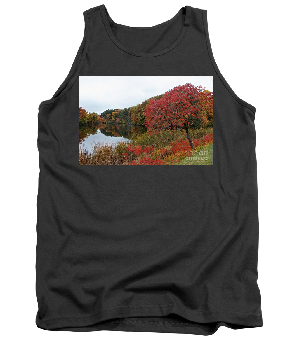 Fall Tank Top featuring the photograph Fall Reflection by William Norton