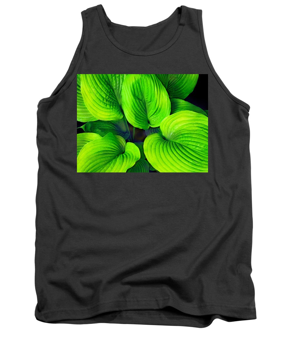 Leaves Tank Top featuring the photograph Falling Into Green by Ian MacDonald